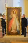 Obraz Jezusa Miłosiernego i św. Andrzeja Boboli